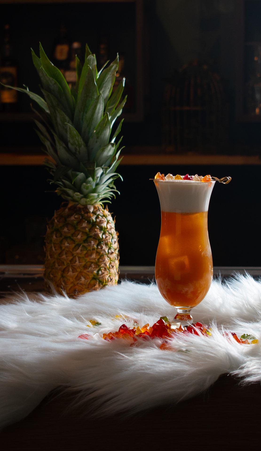 Sunset Haribo Fizz Cocktail summer ananas cocktailbar Dependance Gouda